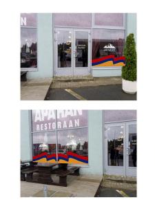 Дизайн оформления стекол ресторана