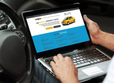 Recruitment Taxi Drivers Landing Page