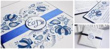Брендирование печатной продукции свадьбы в стиле