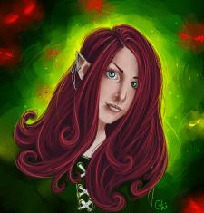 Elven queen portrait
