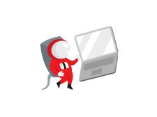 Иллюстрация космонавта для интернет магазина