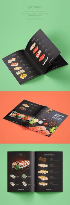 Дизайн меню для суши
