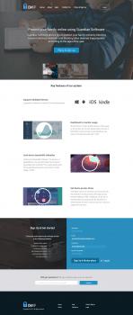 Дизайн главной страницы Guardian Software