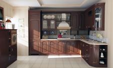Маленькая кухня в пристройке частного дома.