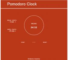 "App ""Pomodoro Clock"""
