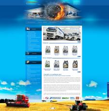 Дизайн сайта-каталога автомасел