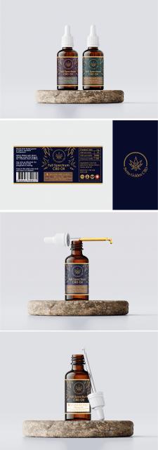 Логотип и Этикетка для товара CBD oil (кбд масло