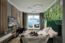 Разработка, дизайн и визуализация спальни