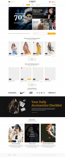 Uinity Fashion Store (Home Page)