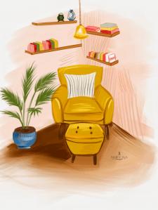 Иллюстрация интерьера