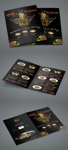 Дизайн Wok меню для кафе M&L