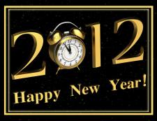 Открытка к новому 2012 году