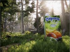 Сок садочек в лесу