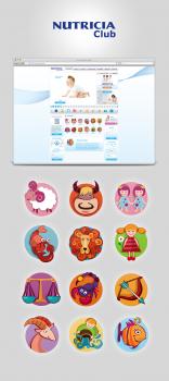 Иконки для сайта Nutricia Club (2012)