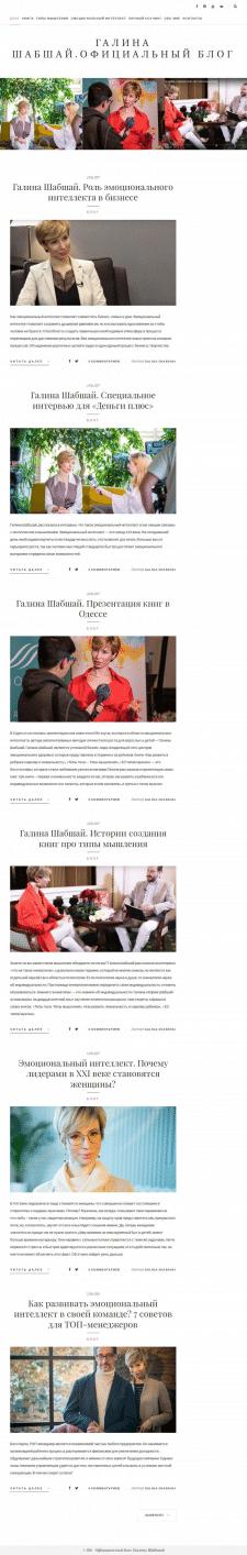 Наполнение блога контентом на Wordpress Галина Ш.
