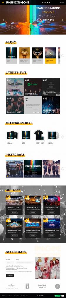 Редизайн сайта для музыкальной группы