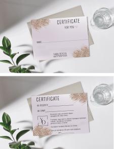 Подарочный сертификат для студии красоты