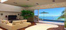 Гостиная с видом на море