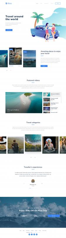 Вёрстка Traveling Landing Page