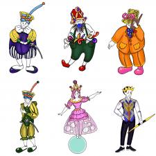 Эскизы для театральных костюмов