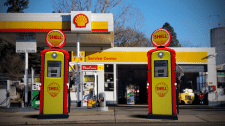 Бензоколонка Shell | Интеграция с изображением