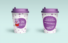 «OVA COFFEE» макет стаканчиков-1