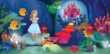 Объемная детская иллюстрации для книги и ARпроекта
