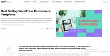 Selling Wordpress Ecommerce Templates  Tumli