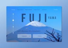 Дизайн стартовой страницы travel блога