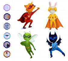 Создание персонажей для игры