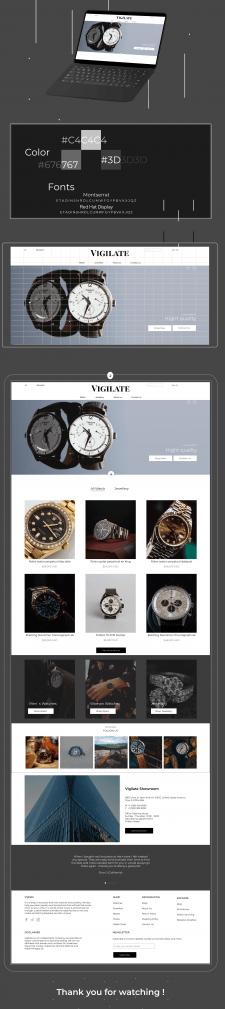 Watch shop web design