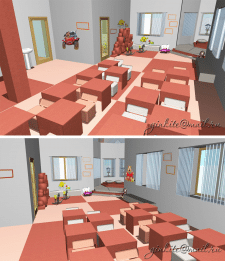 Визуализация интерьеров детского сада ArchiCad
