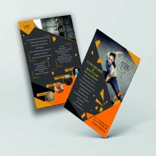 разработка листовки для спортивного женского зала