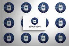 """Дизайн логотипу сервісу  """"Shop bot"""""""