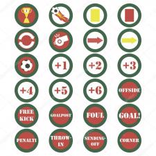 Набор векторных футбольных иконок