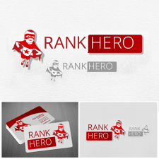 Логотип и визитки Rank Hero