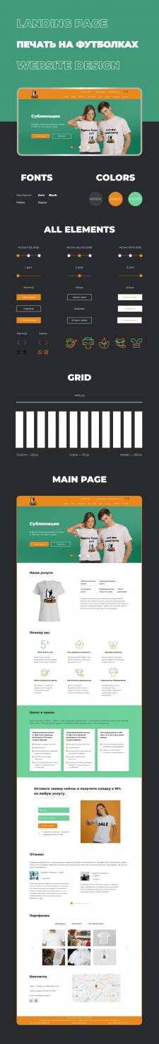 Landing page: дизайн лендинга для типографии