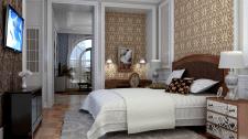 Дизайн и визуализация спальни SketchUp+V-Ray