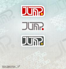 """""""Джамп"""" шрифтовой логотип"""