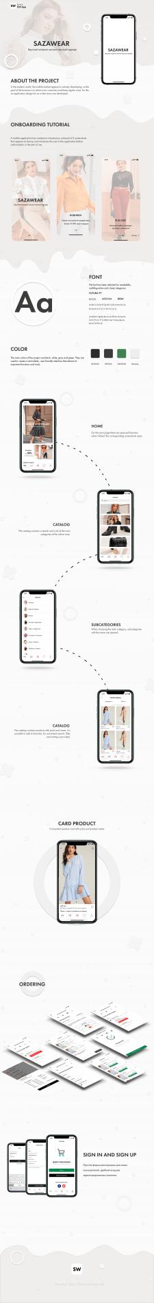 SAZAWEAR - UX/UI Mobile app design for iOS