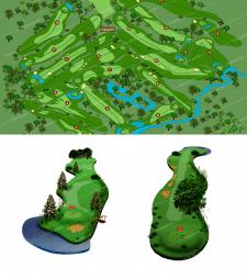 Рисование схемы и полей для гольфа