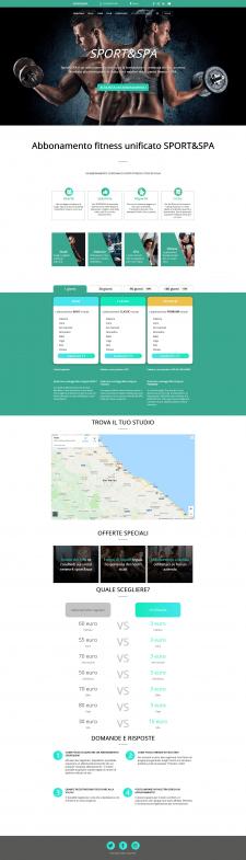 Сайт абонементов фитнесс залов в Италии