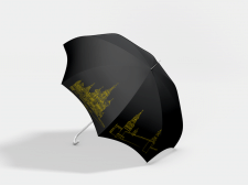 Мокап с моими иллюстрациями для зонта.