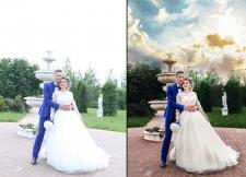 Обработка свадебной фотографии