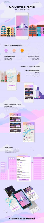 UX\UI дизайн приложения для поиска отелей