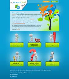 Дизайн главной страницы сайта My Grocery Panel