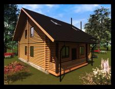 """Проектирование дома из бруса, для компании """"Бытовк"""