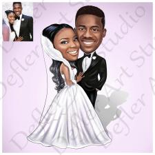 Beautiful wedding cartoon / portrait