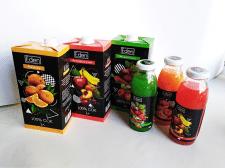 дизайн упаковок для сока