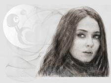 Портрет девушки - техника карандаш